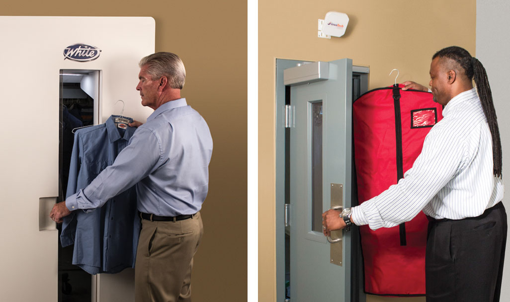 U-pick-it-automated system for uniforms and locker bags