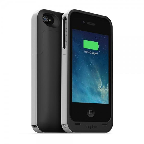 Mophie juice pack recheargable external battery snap case for iphone 4