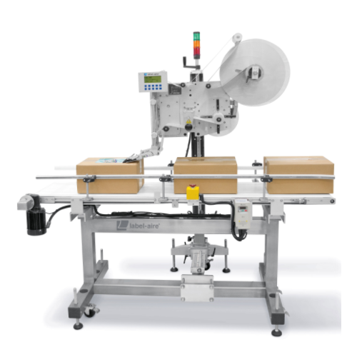 Labelling systems: continuous belt conveyor