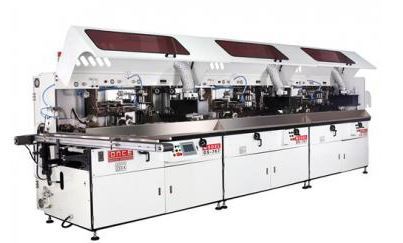 Os-767 automatic uv container screen printing machine