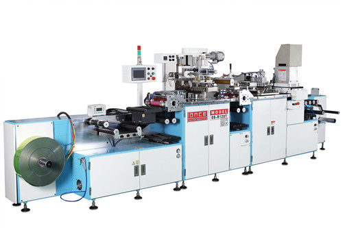 Os-r120t automatic one color roll to roll screen printing + hot stamping machine