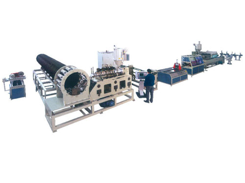 Hdpe plastic steel winding pipe production line
