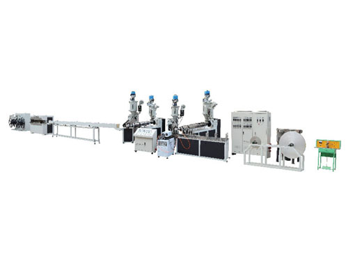 Pex-al-pex lap welding aluminum-plastic composite pipe production line