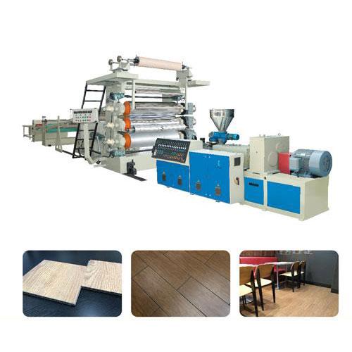 Pvc rigid flooring machine