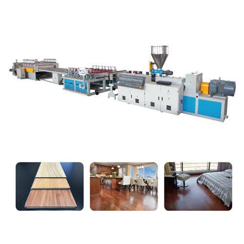 Pvc or wpc foam flooring machine