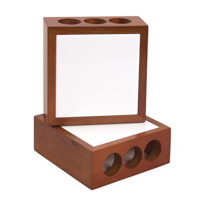 Wooden Pencil Holder with Photo Tile Inserts_2