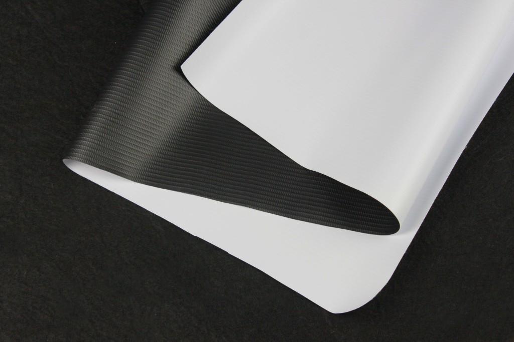 Black grey back flex banner
