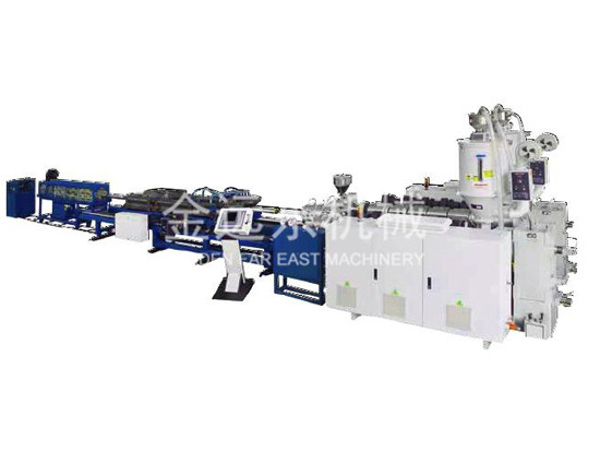 PVC/PE Single wall corrugated pipe production line_2