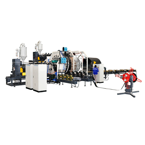 PE Steel Belt Reinforced Spiral Corrugated Pipe Extrusion Line_2