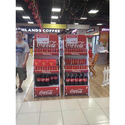Coca cola ad shelf