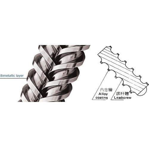 Bimetallic screw