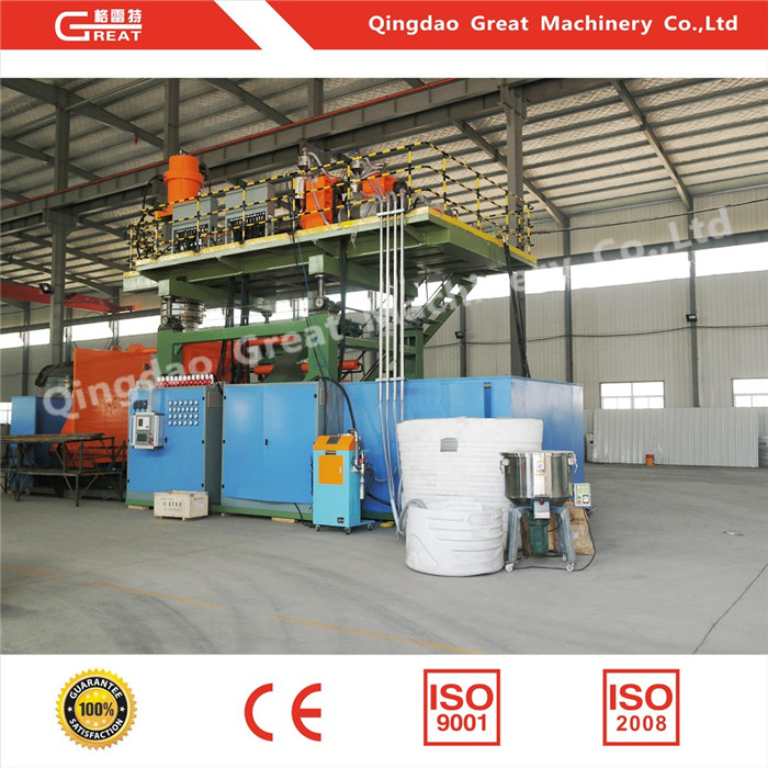 Hdpe extrusion blow molding machine for making water tank