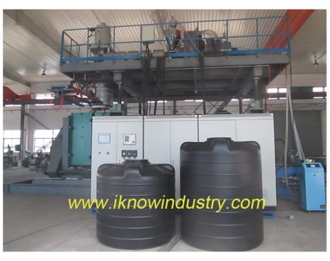 5000 l 1 - 4 layers water tank blow moulding machine