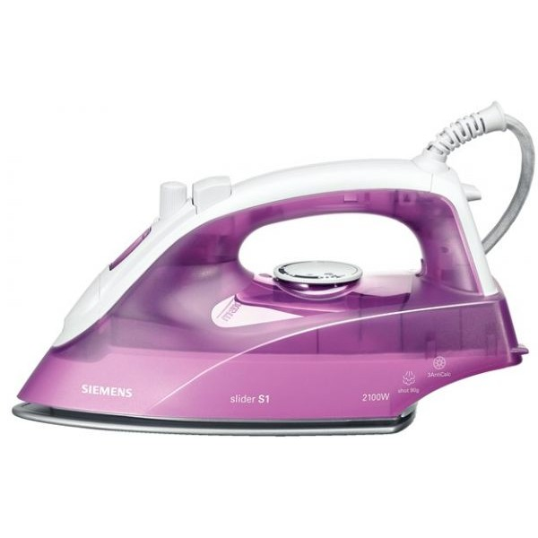 Siemens 2100 watts steam iron, purple tb26220gb