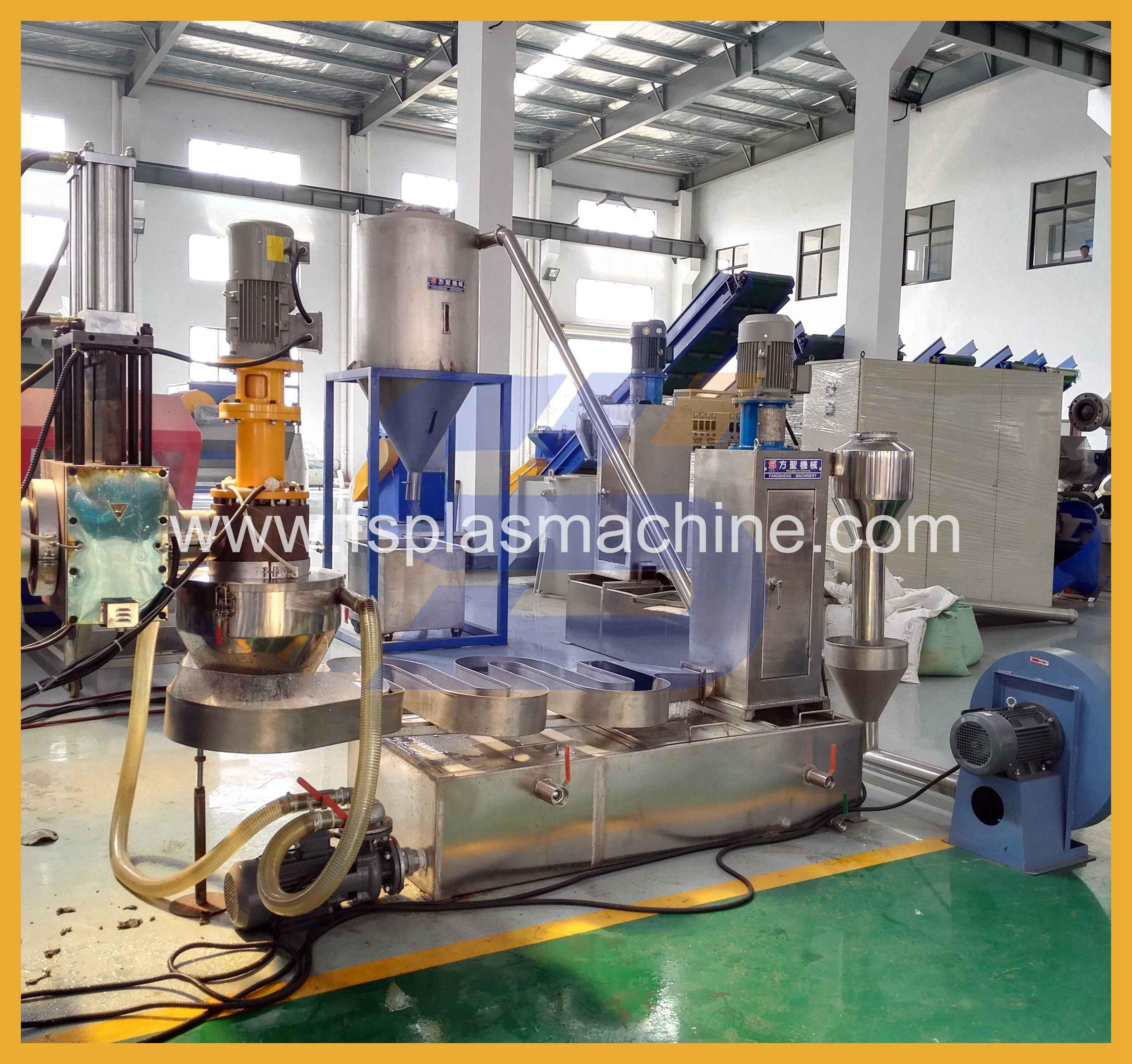 Pp pe agricultural film dia-face cutting pelletizing line