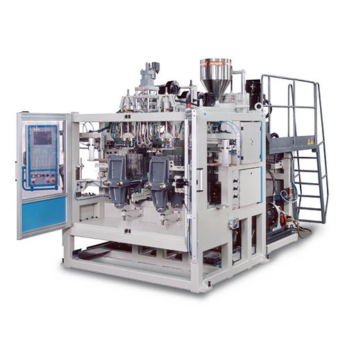 Hybrid extrusion blowmoulding machine