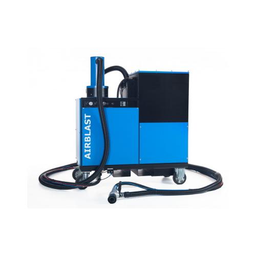 Dust free vacuum blasting