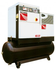 AIR KRONE BY BOTTARINI POWERFUL SCREW AIR COMPERASOR WITH AIR TANK AND DRYER_2