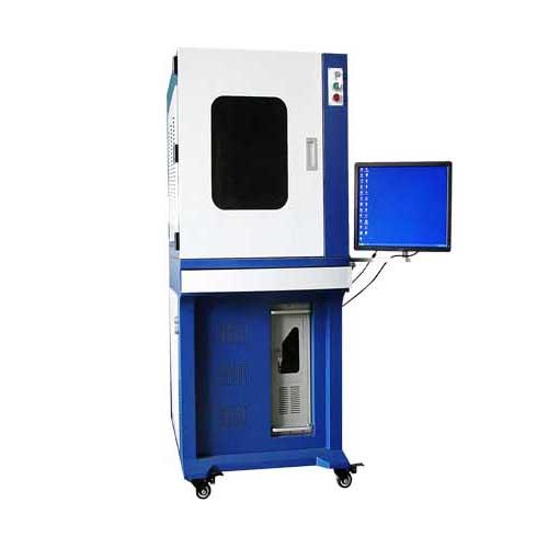 Fiber laser deep engraving machine