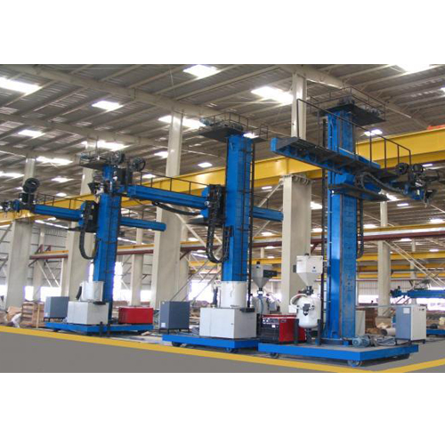Wind tower fabrication line