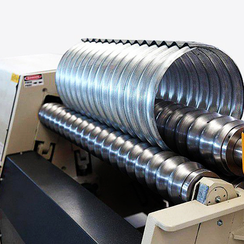 Corrugated sheet curving machines