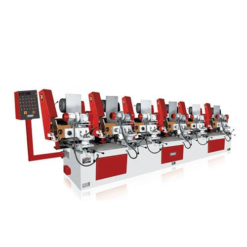 Six head abrasive belt cylindrical finishing system od 100 - 6