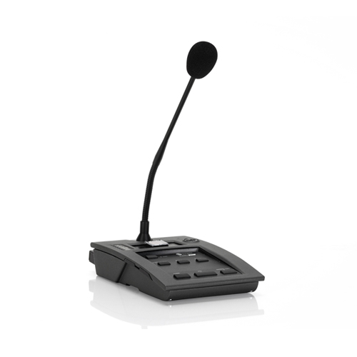 Voice alarm control microphones