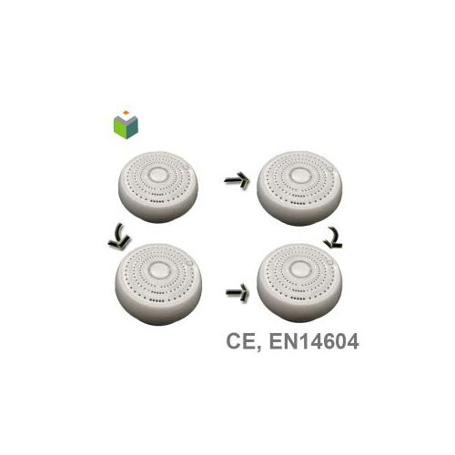 En14604 wireless interconnected smoke detector aj-718-i