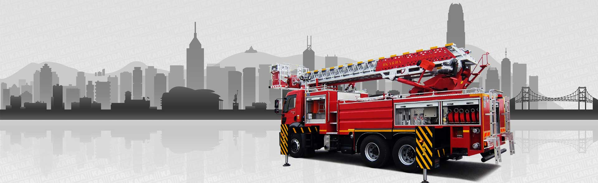 Stair fire fighting vehicles