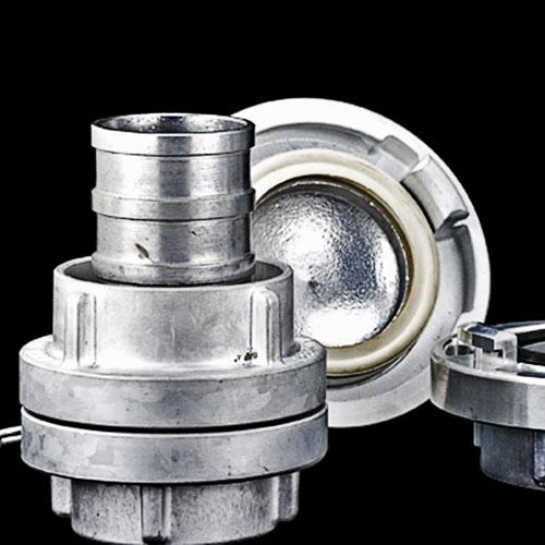 Aluminum alloy storz coupling as per DIN-German standard._2