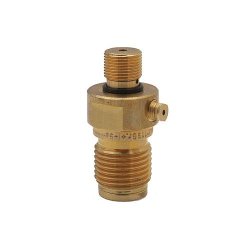 Spring loaded no-return valve for CO2 cylinders - W0170_2
