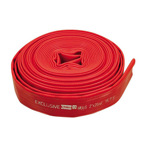 100mm 8 bar white tpu lined fire fighting equipment water hose