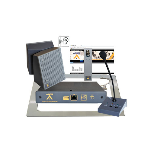 Full duplex digital counter intercom