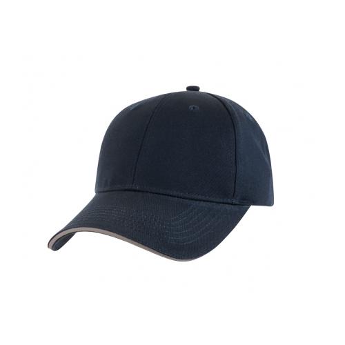 SANDWICH TRIM WASHED COTTON CAP_2