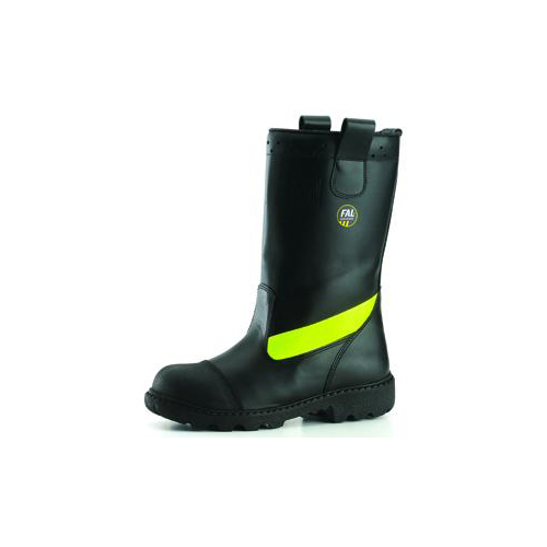 BOOT FOR THE FIRE DEPARTMENT WATER REPELLENT GRAIN BLACK LEATHER_2