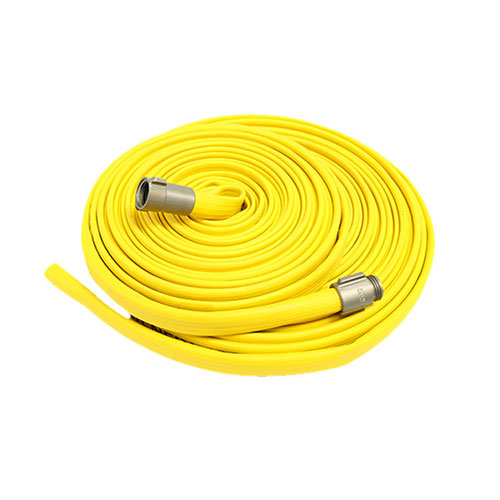 Yellow durable fire hose