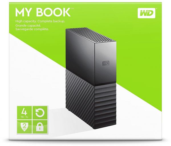 Wd 4 tb my book desktop external hard drive