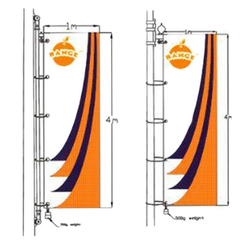 Street pole banner system