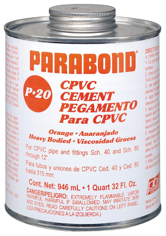 P-20 cpvc solvent cement