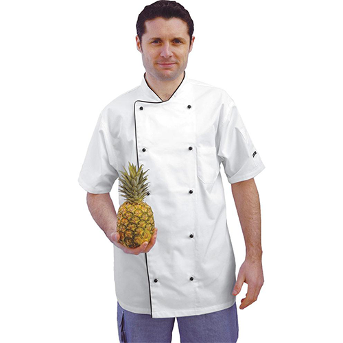 Pw-c676 aerated chefs jacket