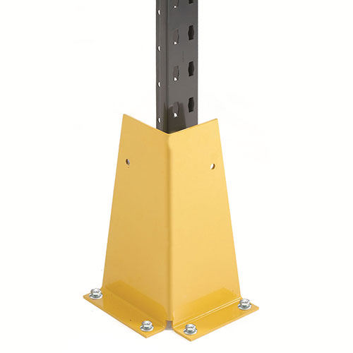 L style steel upright heavy storage rack protector