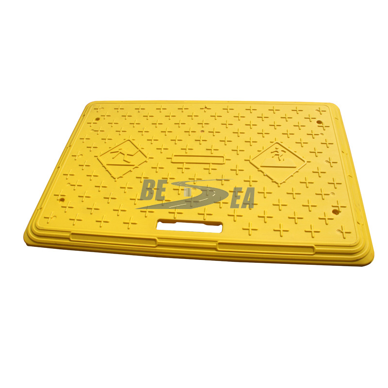 Steel retainer plastic road safety trench cover