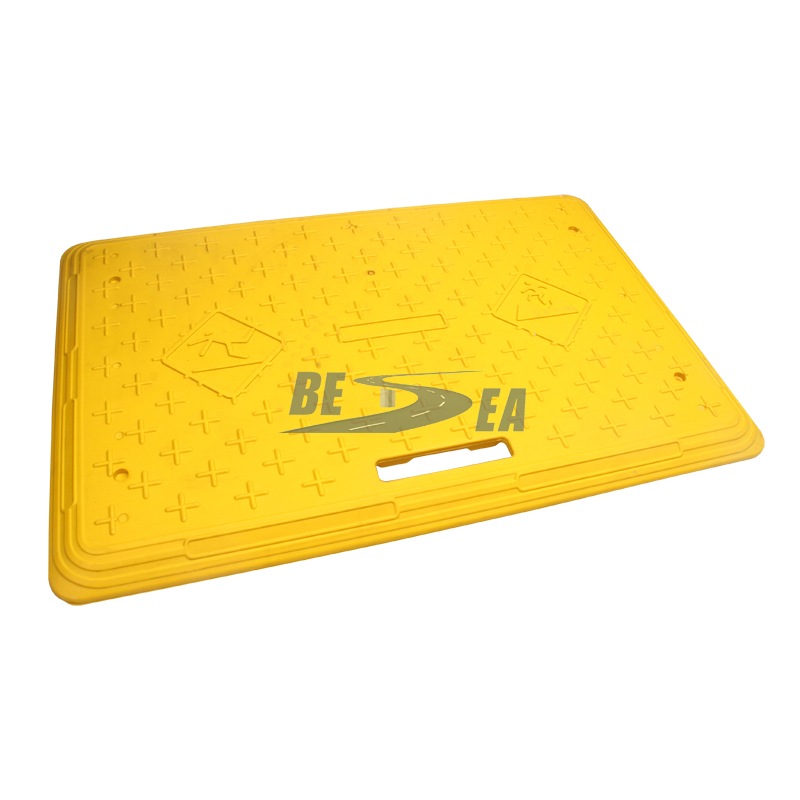 Steel Retainer Plastic Road Safety Trench Cover_4