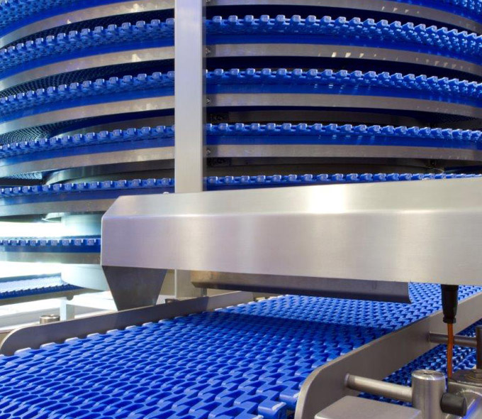 Plant bakery systems - spiral cooling