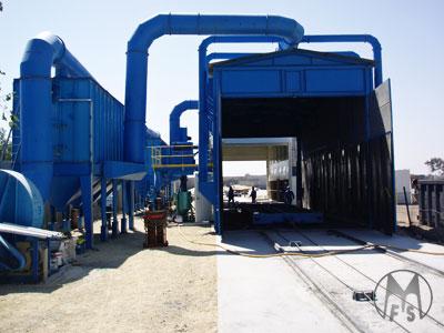 Murzello - pneumatic type shot blasting equipment  - blast cabinets