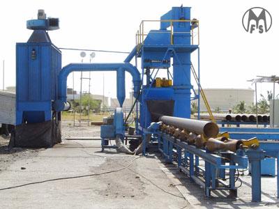 Murzello - airless / centrifugal shot blasting equipment - auto pipe shot blasting