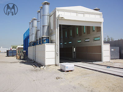 Murzello - painting systems - outdoor paint booth