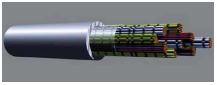 Central Office Cable Plain Annealed Copper Wire/PVC Insulation/LSZH Sheathed Internal Telephone Cable (Construction and Transmission Performance In Accordance With BT Specification CW1308)