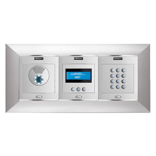 Digital video entry panel with display keypad and decorative frame