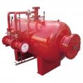 Foam proportioning bladder tank for fire foam system